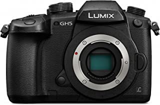PANASONIC LUMIX GH5 Body 4K Mirrorless Camera, 20.3 Megapixels, Dual I.S. 2.0, 4K 422 10-bit, Full Size HDMI Out, 3 Inch Touch LCD, DC-GH5KBODY (USA Black) (Renewed)