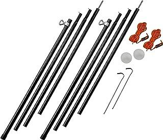 Vango Ajustable de Acero King 180Cm-220Cm Pole Set Negro