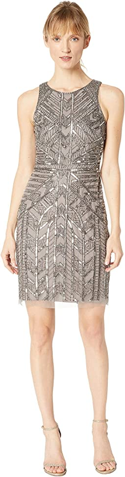 Short Beaded A-Line Dress