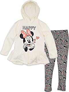 Girls' Minnie Mouse 2-Piece Fleece Hoodie and Leggings Clothing Set