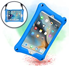 Cooper Bounce Strap Shoulder Strap Rugged Case for Apple iPad Mini 4 3 2 1   Multi-Functional Shock Proof Heavy Duty Cover with Stand, Shoulder and Hand Strap   Kids Adults (Blue)