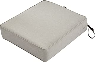 "Classic Accessories Montlake Patio FadeSafe Seat Cushion, Grey, 23"" Wx25 Dx5 T"
