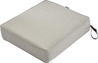 "Classic Accessories Montlake Patio FadeSafe Seat Cushion, Grey, 23"" Wx25 Dx5 T"