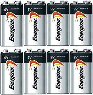 Energizer E522 Max 9V Alkaline battery Exp. 12/22 or later - 8 Count
