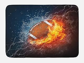 football on fire