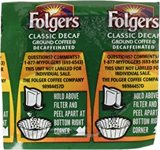 Folgers FOL06927 Decaffeinated Coffee, Individual Packets (Pack of 42)