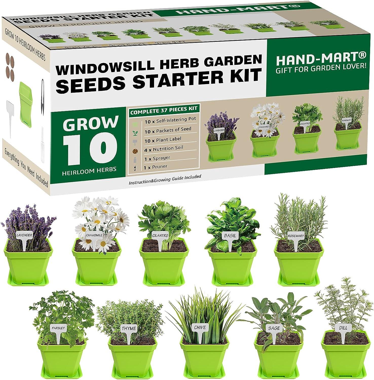 Buy 9 Herb Garden Kit  Indoor/Kitchen Windowsill Seeds Grow ...