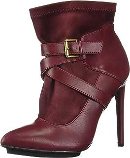 Michael Antonio Women's Agi Ankle Boot, cranberry, 6 M US