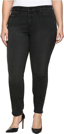 Plus Size Alina Legging Jeans with Glitter Tuxedo Stripe in Bristol
