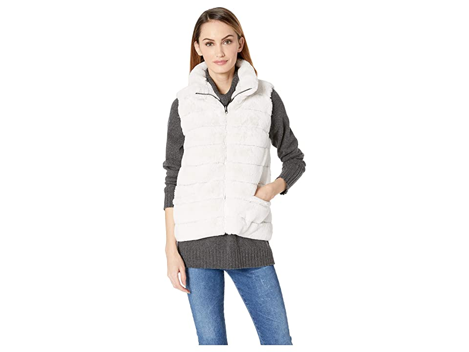 Dylan by True Grit Reversible Fur Love Vest (Winter White) Women