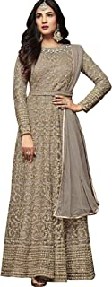 The Fashion Edge Women's Silver Anarkali Salwar Suit