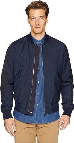 Check Wool Bomber Jacket