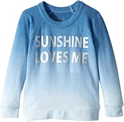 Chaser Kids - Love Knit Raglan Sunshine Loves Me Pullover (Toddler/Little Kids)