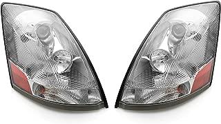 Eagle Eyes VL001-B001L VL001-B001R Fit 2004-2015 VOLVO VN VNL Head Lamp Pair