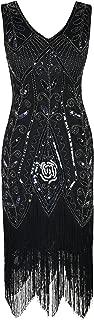 Women Flapper Dress 1920s Gatsby Art Deco Fringed Sequin Cocktail Dress