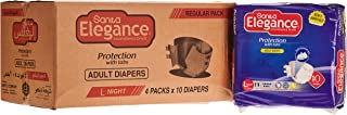 Sanita Elegance Adult Diapers - L Night, 40 Pcs