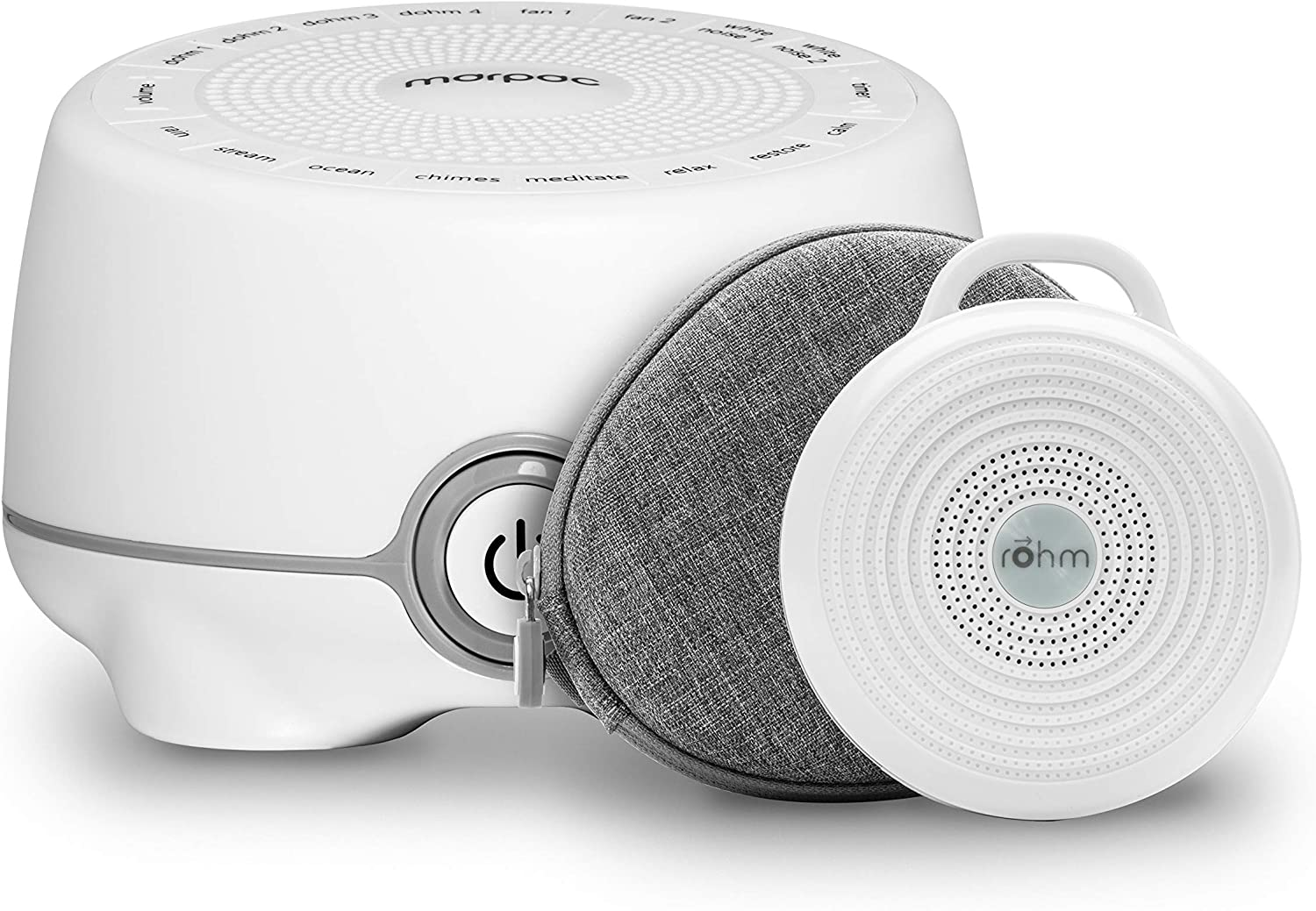Yogasleep Whish & Rohm Travel Bundle, Portable White Noise Machine, Compact Sleep Therapy for Adults & Baby