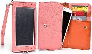 Rose Quartz Window Wristlet Wallet Case for Samsung Sl, R, Galaxy Fascinate, Focus S, Avant, Core Plus, Alpha, Express 2, Star 2 Plus, Win Pro, Galaxy Ace Style LTE G357, Galaxy Alpha Smartphone