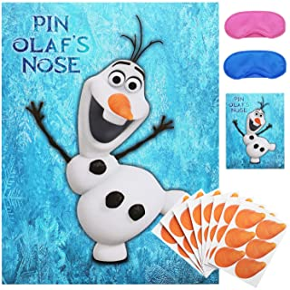 Pin The Nose on Olaf Party Game for Frozens Theme Birthday Party Supplies   Party Decoration (48 Noses)