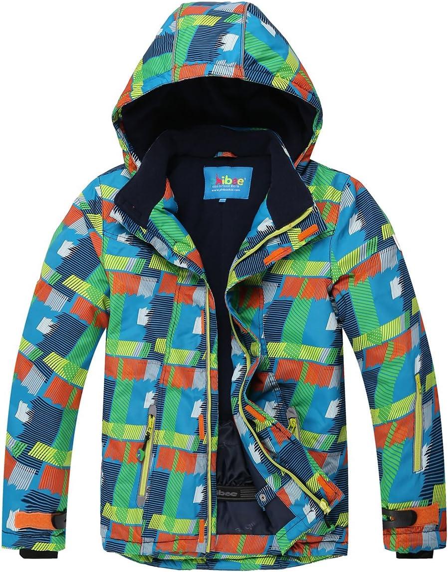PHIBEE Big Boys' 5% OFF Outdoor Waterproof 5 popular Fleece Ski Warm Snowboard Ja