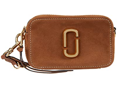 Marc Jacobs The Softshot 21 Suede Crossbody (Brown) Cross Body Handbags