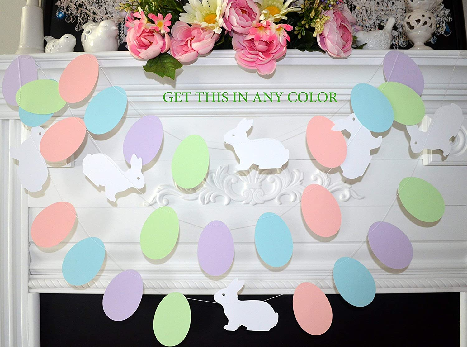 2021new shipping free shipping Easter decorations easter garland bunny Ranking TOP1