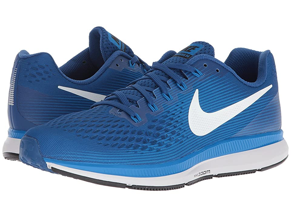 Nike Air Zoom Pegasus 34 (Gym Blue/Sail/Blue Nebula/Vast Grey) Men