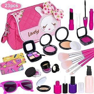 GiftInTheBox Pretend Makeup kit for Girls, Kids Makeup Kit Toy Including Pink Princess Purse,...