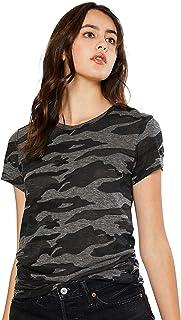 esstive Women's Ultra Soft Fleece Basic Casual Lightweight Camouflage T-Shirts