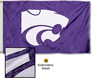 College Flags & Banners Co. Kansas State Wildcats Embroidered and Stitched Nylon Flag