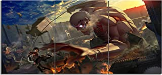 Attack on Titan Armor Giant Canvas Posters Home Decor Wall Art Framework 3 Pieces Paintings for Living Room HD Prints Anime Pictures
