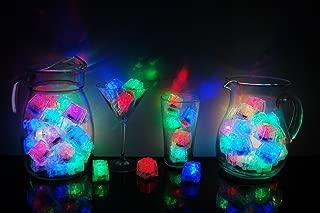 LiteCubes Brand 8 Mode Multicolor Rainbow Light up LED Ice Cubes (72)