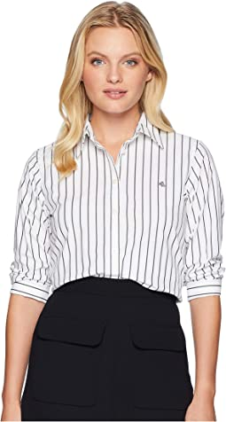 Petite No-Iron Button-Down Shirt