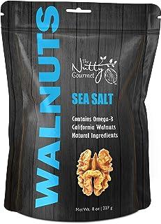 The Nutty Gourmet Sea Salt Flavored Walnuts - Keto Snacks - Healthy Snacks - Walnuts Nuts - Heart Healthy Trail Mix - Farm...