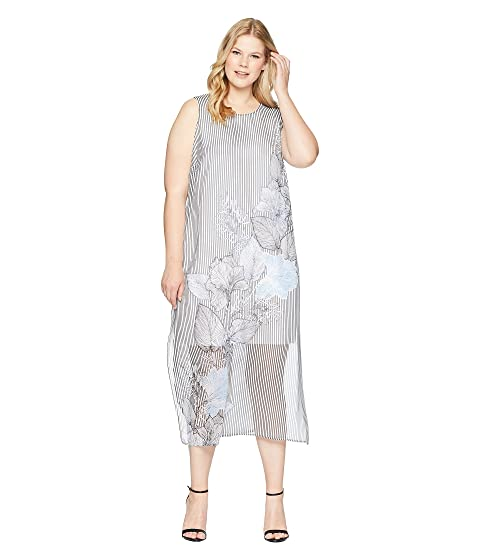0574dcb442ba Vince Camuto Specialty Size Plus Size Sleeveless Island Floral Chiffon  Overlay Maxi Dress
