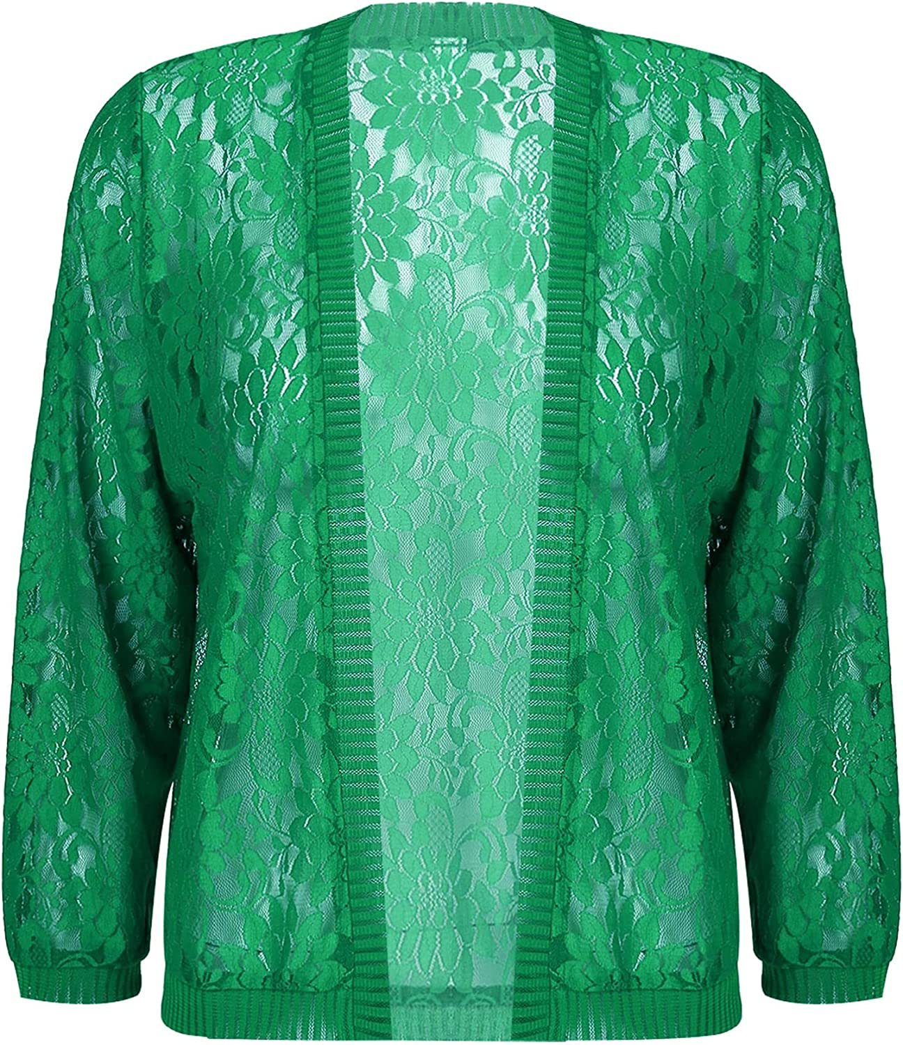 YONGHS Womens Lace Shrug Bolero Cardigan with 3/4 Sleeve Hollow Open Front for Evening Dresses