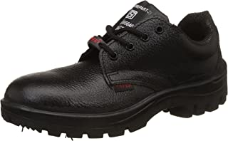 Aktion Safety Genuine Leather Shoes SA-115 - Size 10, Black