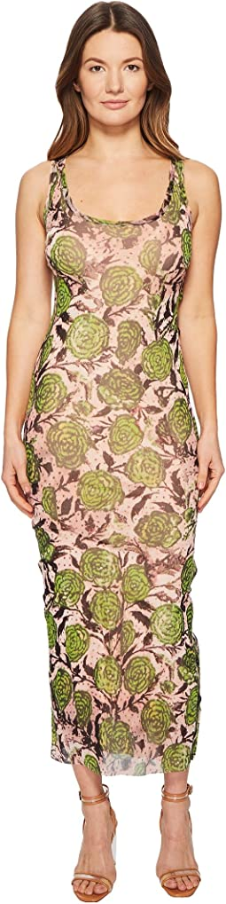 FUZZI - Tank Dress with Side Buttons