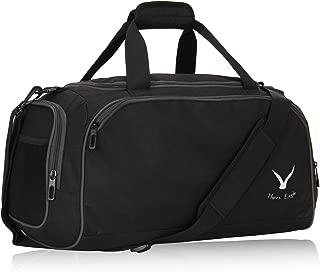Hynes Eagle Small Gym Bag Sports Duffel Bag Travel Carry on 18 inch, Black
