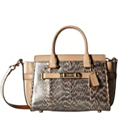COACH Swagger 27 in Pearlized Snake