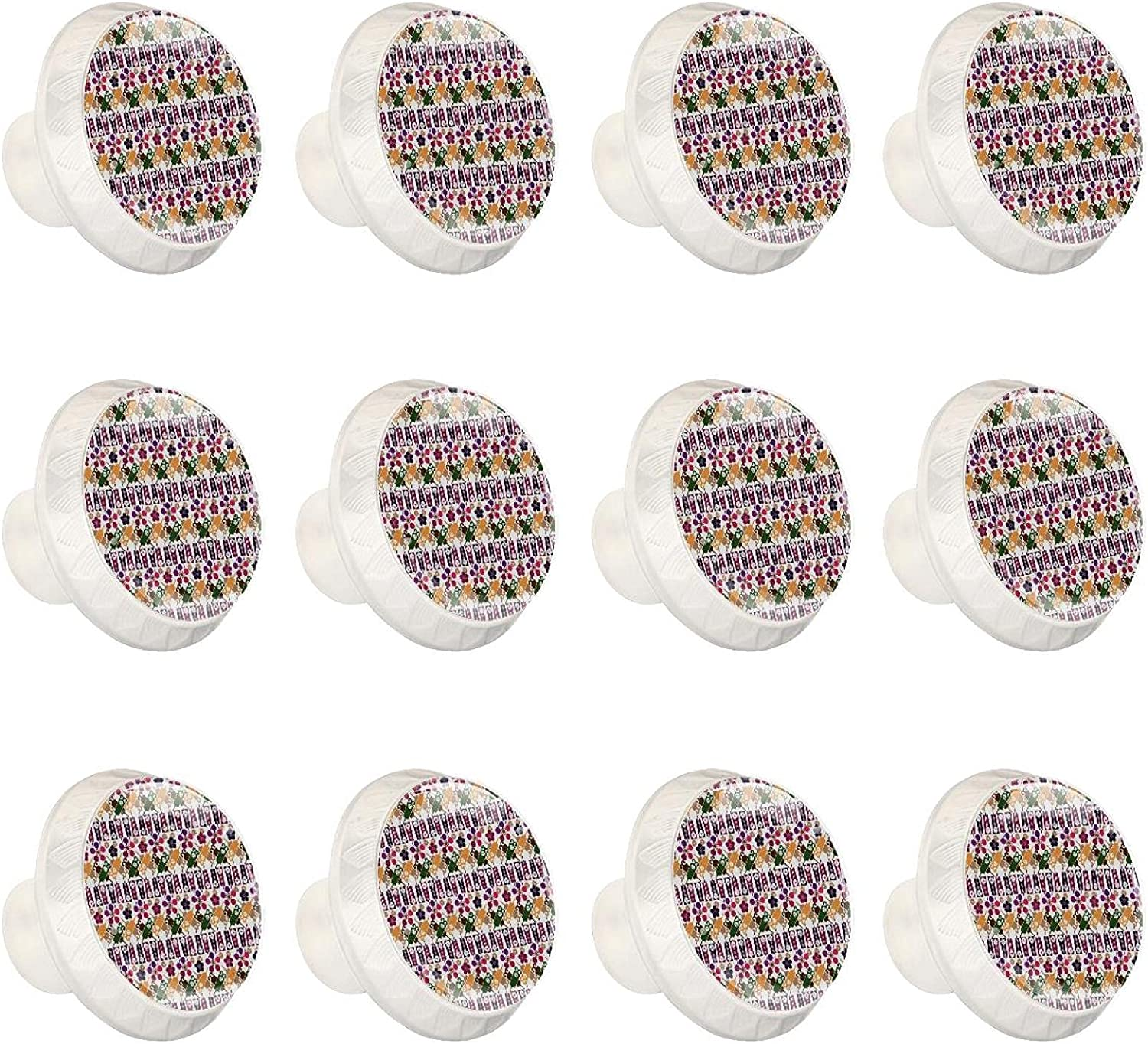 12 Pcs 35MM Max 71% OFF Crystal Time sale Glass Cabinet Japanese Dresser Knobs Style C