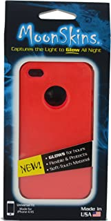 Moonskins MSK-SR01-01 Glow in the Dark Case for iPhone 4/4S - 1 Pack - Carrying Case - Retail Packaging - Red