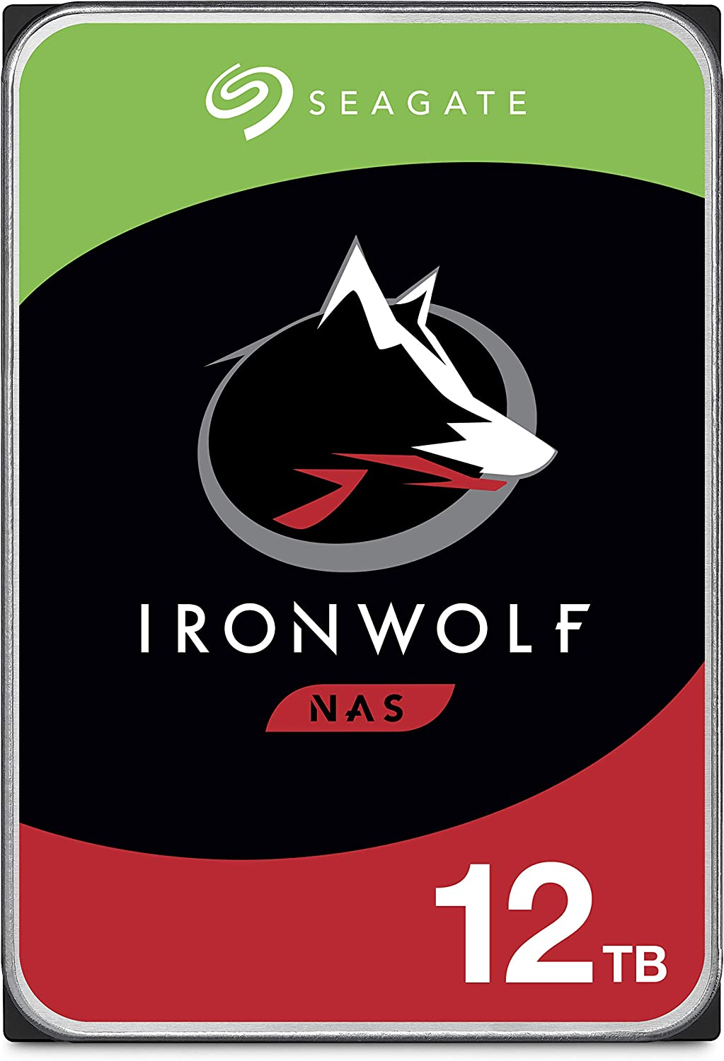 Seagate IronWolf 12TB NAS Internal Hard Drive HDD – 3.5 Inch SATA 6Gb/s 7200 RPM 256MB Cache for RAID Network Attached Storage – Frustration Free Packaging (ST12000VN0008)