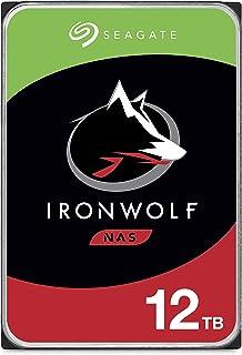 1-8ベイNASシステム用Seagate 12 TB IronWolf 3.5インチ内蔵ハードドライブ(7200 RPM、256 MBキャッシュ、180 TB/年のワークロード定格、最大210 MB/s、モデル:ST12000VNZ007 / ...