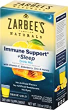 Zarbee's Naturals Immune Support & Sleep Drink Mix with Melatonin, Natural Lemon Citrus Flavor, 10 Packets