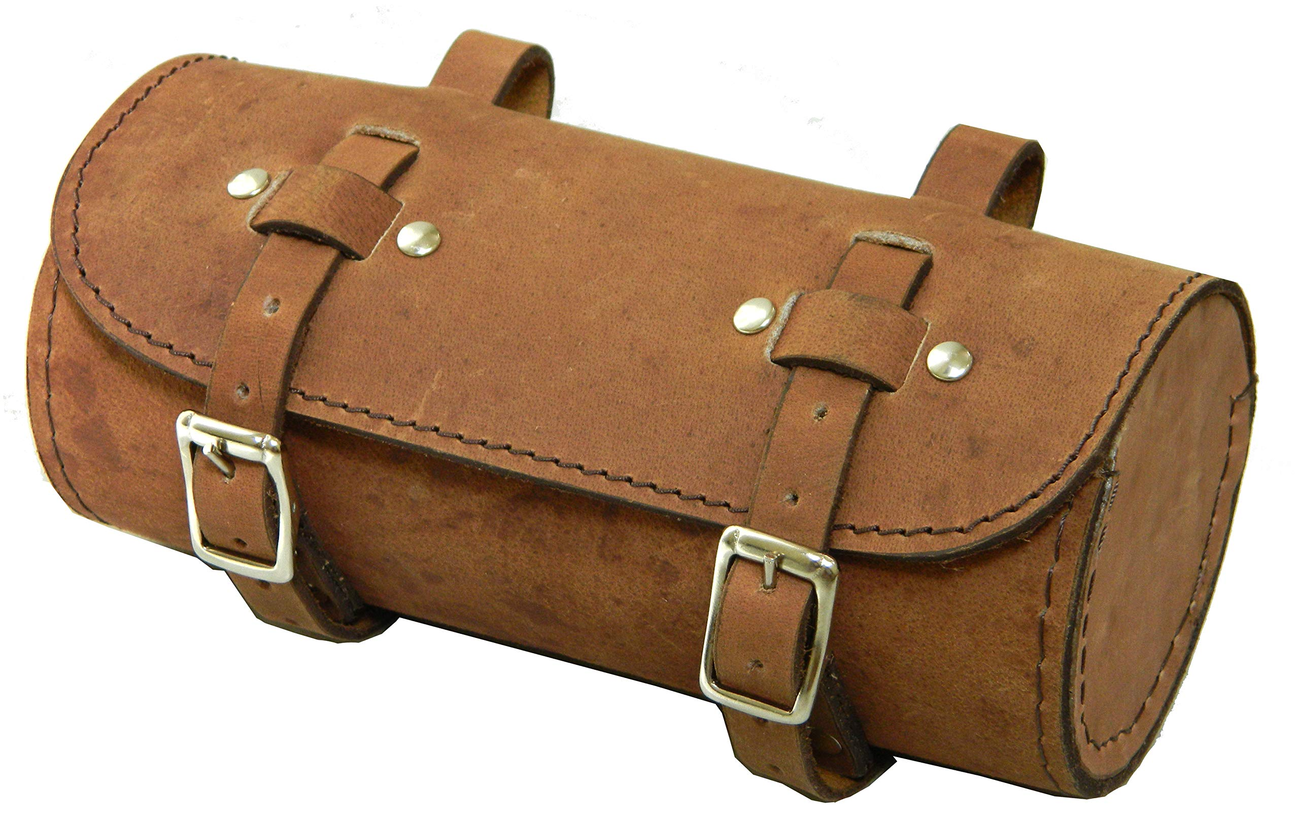Bicycle Tool Bag vintage brown  Genuine Leather Retro Bicycle Round saddle bag