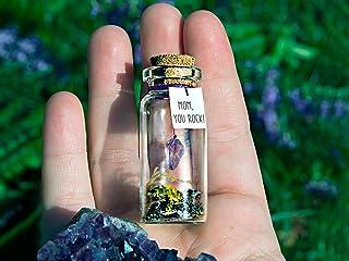 You Rock! Mensaje en una botella. Miniaturas. Regalo personalizado. Divertida postal para la familia.