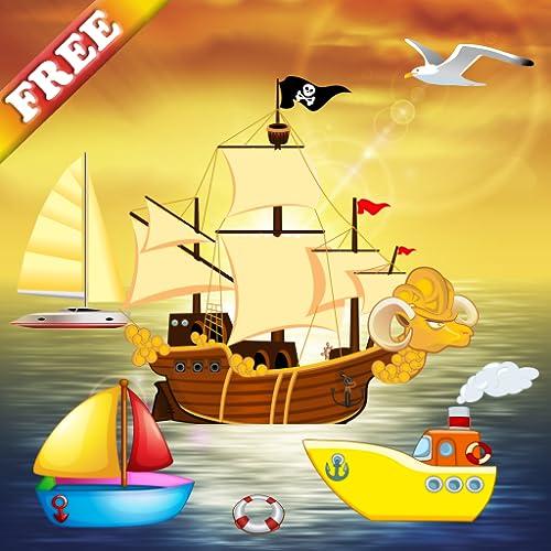 Barco e quebra-cabeças para crianças e miúdos : jogos de quebra-cabeça sobre o mar, com barcos e navios ! GRATUITO