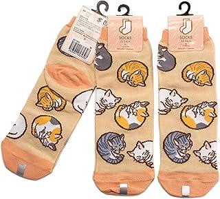 3足セット 猫 レディース ソックス Cat Socks ペットとアニマルソックス Pet & Animal Socks SD-3004 ペットラバーズ