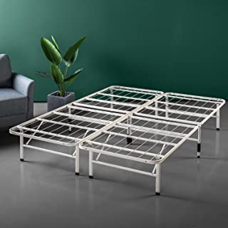 Zinus 14 Inch SmartBase Mattress Foundation/Platform Bed Frame/Box Spring Replacement/Quiet Noise-Free/Maximum Under-bed Storage in Beige, Queen